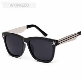 Óculos de pentagrama on-line-Wongzo grande fronteira pentagrama óculos de sol óculos de festa na moda personalidade diária óculos decorativos para homens e mulheres uv400