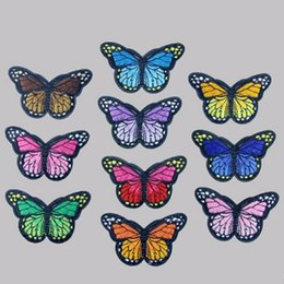 Наклейки для вышивки онлайн-10PCs wedding decoration Sew On Patches For Clothing Multicolor Buerfly Embroidery Patch Appliques Badge Stickers For Clothes