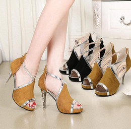 Wholesale Fishing N - Sexy Women Sandals High heels female side air waterproof platform fish mouth shoes - Free Shipping + Free Gift