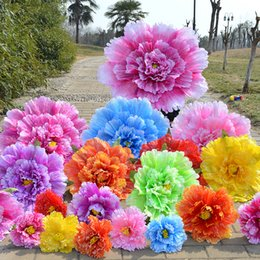 Wholesale multi color fan - 1pcs Multi Size Color Large Theatrical Show Useful Tools Creative Chinese Style Peony Flower Performance Props Hot Sale 23rc4 Z