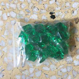 2019 вазы для стола 6 пачек около 1100 штук акриловые кристаллы льда ледяные чипсы камни зеленый акриловый стол рассеивает ВАЗа наполнитель Главная аквариум камень свободный корабль дешево вазы для стола