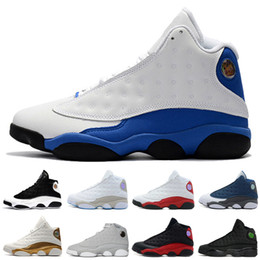 Wholesale Shoes Royal - 13 13s mens basketball shoes 3M GS Hyper Royal Italy Blue Bordeaux Flints Chicago Bred DMP Wheat Olive Ivory Black Cat Men sports sneakers