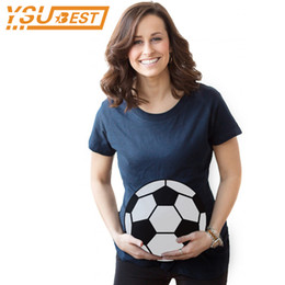 Wholesale Cheap Great Gifts - Summer Pregnant Maternity T-Shirts Lovely Top Pregnancy Clothing Great Gift Cheap Tees Casual Maternity Clothes Football Kids