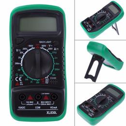 2019 amperio metro dc xl830l multímetro digital voltímetro amperímetro AC DC OHM Volt Tester LCD prueba actual multímetro protección contra sobrecarga