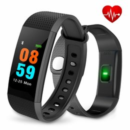 Wholesale Color White Activities - I9 IP68 Waterproof Color Screen Fitness Bracelet Blood Pressure Wrist Activity Smart Wrist Band Bluetooth Heart Rate Monitor for Android IOS