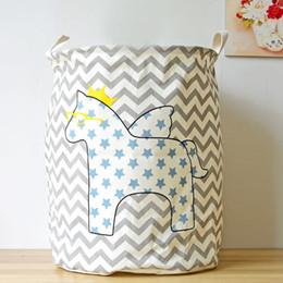 Льняная ткань для одежды онлайн-Хлопок льняная ткань искусство пятиконечная звезда лошадь грязная одежда хранения ведро игрушки корзина главная организация украшения 12 5zy bb