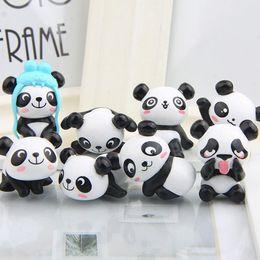 8 pçs / set Zakka Panda gigante bonito figuras de pvc modelo brinquedos diy mini jardim dos desenhos animados em miniatura pote cultura dda773 de