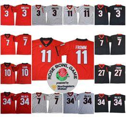 Wholesale M Ii - Georgia Bulldogs 11 Jake Fromm 3 Todd Gurley II 7 D'Andre Swift 10 Eason 27 Nick Chubb 34 Walker College Football 2017-18 Rose Bowl Jerseys