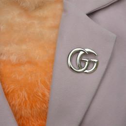 5942ec32b 2019 g suit G Letra Broche Pin Ouro   Prata Oco Corsage Collar Cystal  Broches Moda