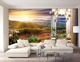 Custom Photo Mural Wallpaper Sunrise escenario natural TV Telón de fondo papel de parede 3D Wallpaper para sala de estar Papeles de pared Decoración para el hogar desde fabricantes