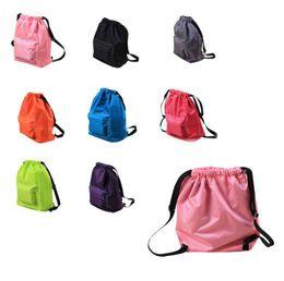 Wholesale wholesale gear bags - Dry Wet Separated Swimming Bag Sport Beach Travel Drawstring Backpack Waterproof Beach Gear Storage Bag Organizer Backpack EEA462 12PCS