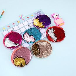 Portafoglio a mano delle signore piccole online-Mini Sirena Sequin portafoglio bambini sirena cambiare tasca bambini portamonete ragazza borsa Ladies Small Hand Bags