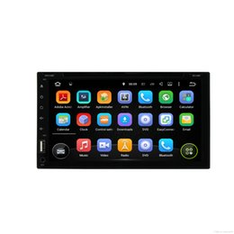 Wholesale New Free Video - anroid 7.1 System New universal Car Radio Double 2 din Car DVD Player GPS Navigation In dash Car PC Stereo Head Unit video+Free Map