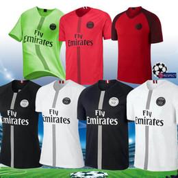 2019 camisetas de fútbol rojo 2018 2019 camiseta negra de fútbol psg MBAPPE  maillots 18 19 befcef1e9b54c