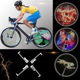 Wholesale hub motor bike - 256 416pcs LED DIY Bicycle Lights Colorful Bike Spoke Wheel Light Motor MTB Display Hub Programmable Light Lamp For Night Riding