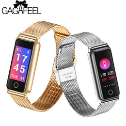 gold blood Coupons - Gagafeel Y8 Color Screen Smart Bracelet Heart Rate Blood Pressure Fitness Tracker Sleep Monitor Bluetooth Smart Wristband