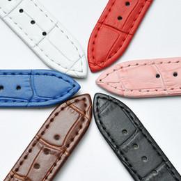 Moda unisex slub em relevo pulseira de relógio de couro push agulha fivela 6 cores azul vermelho Rosa branco marrom preto fecho de aço relógios banda gir nk de
