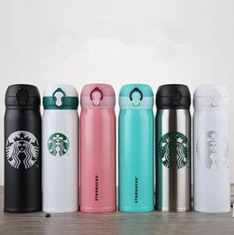 Wholesale thermal mug stainless - Starbucks Insulation Water Bottle 400ML Stainless Steel Portable Cups Coffee Water Cup Vacuum Cars Beer Mugs OOA3944