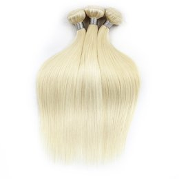 Wholesale Light Blonde Remy Hair Extensions - 1kg Wholesale 10 bundles 613 Blonde Extensions Virgin Hair Straight Two Tone Ombre Brazilian Indian Peruvian Remy Human Hair Weave Bundle