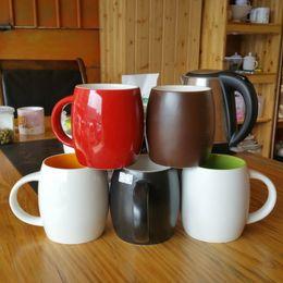 Wholesale Shape Porcelain - Heat Resistant Coffee Cup Resuable Easy To Clean Tumbler Eco Friendly Egg Shape Ceramics Mug High Quality 7gd B