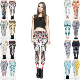 Wholesale Gold Venus - Girl Leggings Mix 16 Styles Dama Kier Poker Queen of Hearts Cathedral Madonna Tutankhamen Venus Creature Finn Pharaoh 3D Print Pants (JL021)