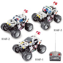Wholesale car kit accessories - 3D Assembly Metal Model Kits Toy Small Dance Car 816F-1 816F-2 816F-3 Accessories Construction Play Set