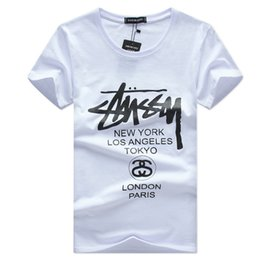 Tees imprimés 5xl en Ligne-2018 Mens Summer Tees Plus Size Shirt t-shirt à manches courtes T-shirt en coton imprimé Hommes Designer Clothing S-5XL