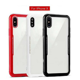 Wholesale Iphone Case Wholesale Free Shipping - For iphone X 6 7 8 plus Imitation glass phone case mobile phone clear Coverage case Transparent backcover With DHL free shipping