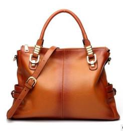Canada Sacs en cuir véritable Vintage femmes Messenger Sacs Cross Body Cover cartables Designer solide sacs à main de haute qualité 2018 Offre
