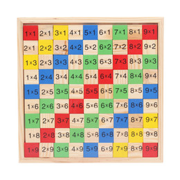 Wholesale Study Table Wood - Early Childhood Intelligence Toy Wooden Toys 99 Multiplication Arithmetic Table Study Calculation Puzzle Colorful Building Blocks 10 8bm W