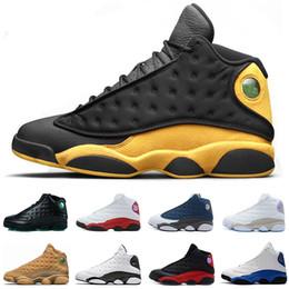 Canada 13 13s chaussures de basket-ball classe Melo de 2002 Italie Blue Flints Breed Chicago Bred DMP Blé GS Hyper Black Cat Hommes baskets cheap class arts Offre