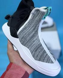 2019 pies de diamante Envío de la gota Aceptado, 2018 Diamond Co. x Abyss KNIT, serie abyss de zapatillas con cremallera de punto con función de pie, zapatillas deportivas para hombres pies de diamante baratos