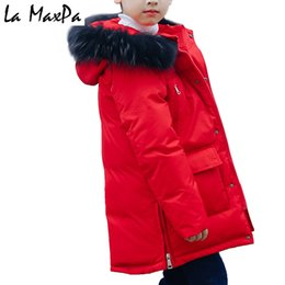 e1a43ac2e0e -30c Boys Winter Jacket Coat 2018 Fur Hooded Down Jackets for Kids Boy 6 8  10 12 14 Years Thicken Warmly Winter Children Clothes