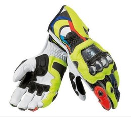 Wholesale Long Gloves For Men - Wholesale 100% Genuine Leather Belt for Rossi VR46 Motorcycle Long Brake Mats MotoGP M1 Racing VR46 Motorcycle Gloves
