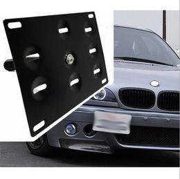 audi a4 bmw Rebajas Automóvil / Auto Adaptador Doble / Único Parachoques delantero Gancho de remolque Matrícula Soporte de montaje Soporte adecuado para BMW 3 5 6 X MINI Mazda Audi A4 2010-2015