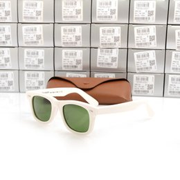 männer s sonnenbrille weiß Rabatt Hohe Qualität Plank Sunglasses White Frame Green Lens 2140 Sonnenbrille Metall Scharnier Brille Herren Sonnenbrille Damen Brille Unisex Sonnenbrille