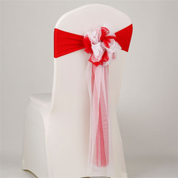 Wholesale Various Bands - Double Color Organza Chair Sashes Fabric Chairs Bands Decoration Bowknot For Wedding Party Banquet And Various Events 5hm Y