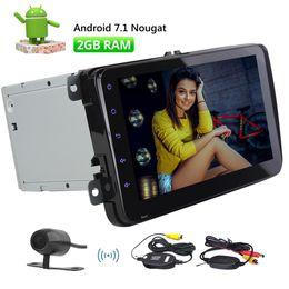 2019 golf gps telefonieren 8 '' Android 7.1 Hauptgerät Doppel Din Autoradio für Jetta Golf Passat Octa Core Autoradio GPS Auto AM FM Radio Bluetooth