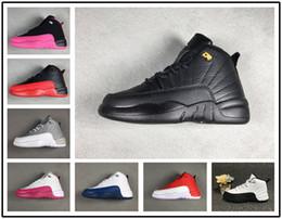 official photos 55b11 77bc3 nike air jordan aj12 Garçons Filles 12 12s Enfants Chaussures De  Basket-ball Enfants 12s Gym Rouge Rose Et Blanc Pourpre Bleu Bleu Bleu  Cadeau ...