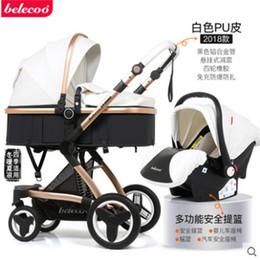 Cochecito de bebé de lujo 3 en 1 carruajes de bebé de paisaje alto para niños con sillas de coche para bebés recién nacido carrito desde fabricantes