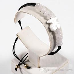 Wholesale Colour Weave - TL Stone Bead Bear Weave Bracelet Beads Rope 5 Colours For Women Hand Make Original Design