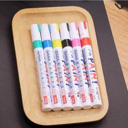 Красочные водонепроницаемый ручка автомобиля шины протектора металла перманентная краска маркеры граффити жирной маркер ручка QW7359 от