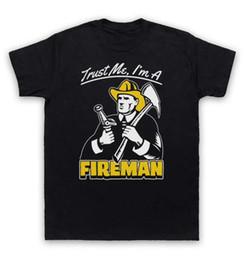 Wholesale Fireman T Shirts - Trust Me I'm A Fireman T Shirt Funny Work Slogan