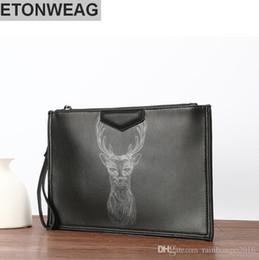 2019 sac coréen Usine en gros marque sac coréenne mode fawn modèle enveloppes imprimé en cuir hommes sac à main tendance cerf tête timbre homme bangalor sac coréen pas cher