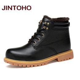 703e20e59163 2019 stiefeletten italienisch JINTOHO Große Größe Schwarze Schuhe  Hochwertigem Echtem Leder Männer Stiefeletten Italienische Schwarze  Lederstiefel