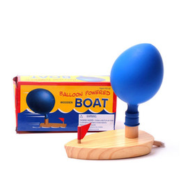 Wholesale New Years Novelty - New Fashion Baby Bath Balloon Power Boat Toys In The Bathroom Classic Toys Funny Game Wooden Bath Toys Gift Novelty Games