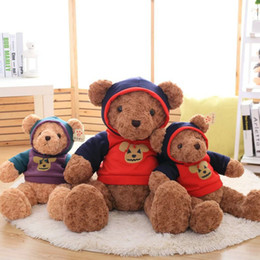 Wholesale Teddy Bears Dresses - Hug Baby New Pattern Violence Xiong Maorong Toys Dressing Teddy Bear Little Bear Hats Removable Free Shipping SM0195