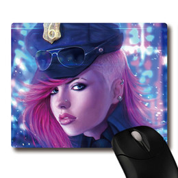 Wholesale Pattern Mouse - Hot wild officer vi of game LOL cg pattern printing Heavy weave Non-slip rubber office Coaster Gaming mouse pads 220x180x3mm