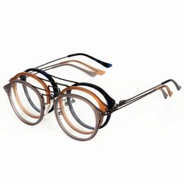 Vazrobe Acetato + metal Gafas Hombres Mujeres Gafas redondas Gafas  Graduación de lentes para hombre Mujer óptica Dioptría negra mujeres lentes  negros ... 4fc19596c5d6