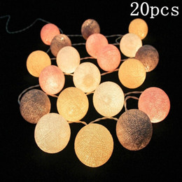 Wholesale Cotton Balls Lights - Pvc Cotton Balls Rope 20 Led Sweet Ball Lights String Home Garden Fairy Lamp Wedding Patio Party Decoration Luminous Lights